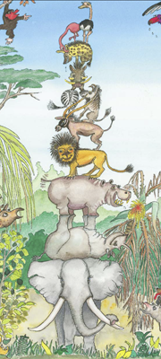"""Kinderbuch """"Der Korken"""" - Tier-Pyramide"""