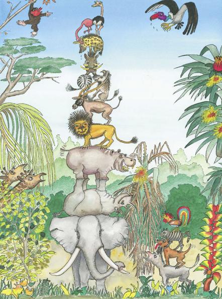 Tier-Pyramide - Nach Afrika!